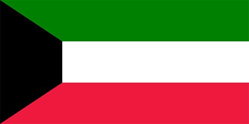 クウェートの国旗の高画質画像
