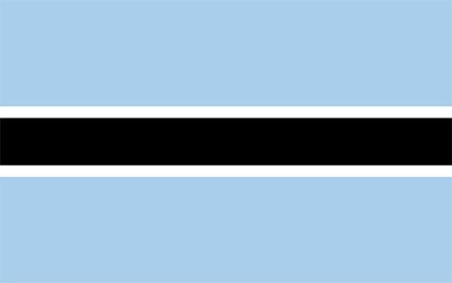 ボツワナの国旗の高画質画像