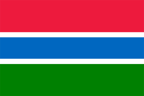 ガンビアの国旗の高画質画像