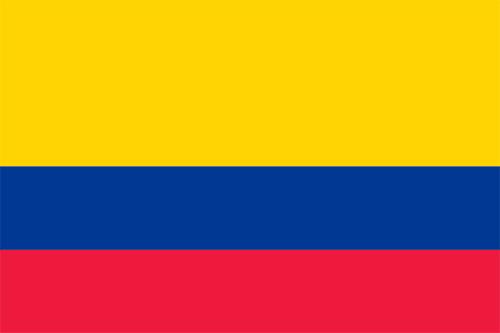 コロンビアの国旗の高画質画像