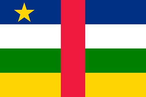 中央アフリカ共和国の国旗の高画質画像