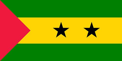 サントメ・プリンシペの国旗の高画質画像
