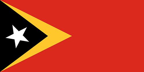 東ティモールの国旗の高画質画像