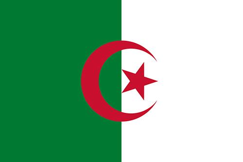 アルジェリアの国旗の高画質画像