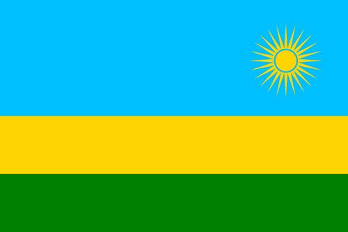 ルワンダの国旗の高画質画像