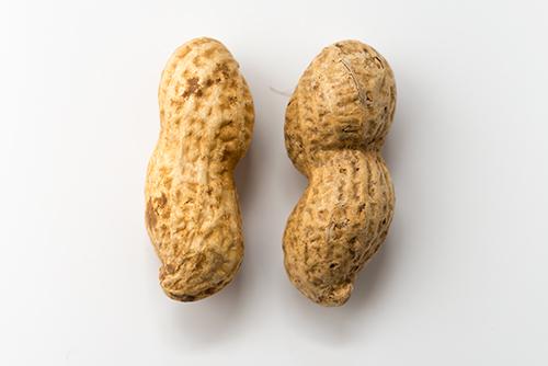 殻付き落花生、ピーナッツの高画質画像