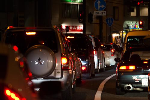 交通渋滞の高画質画像