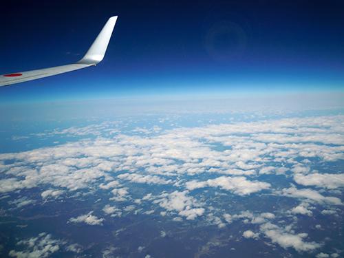 飛行機からの眺めの高画質画像