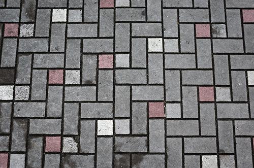 地面のタイルの高画質画像
