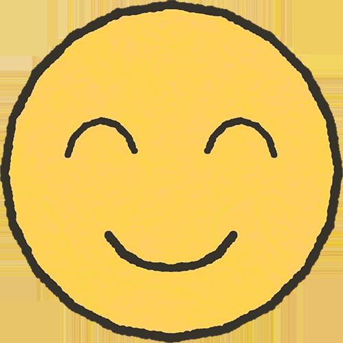 笑った顔のイラストの高画質画像