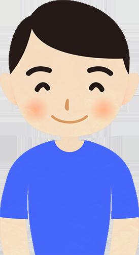成人男性の笑った顔のイラストの高画質画像