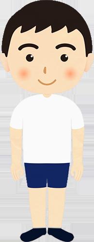 スポーツウェアを着た男の子のイラストの高画質画像