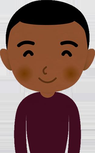 笑顔の外国人男性アフリカのイラスト フォトスク無料の