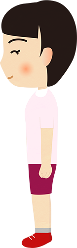 女性の横向きのイラストの高画質画像