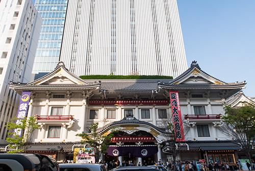 歌舞伎座、銀座の町並み 17の高画質画像