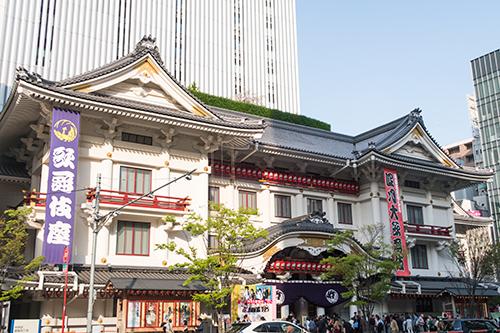 歌舞伎座、銀座の町並み 18の高画質画像
