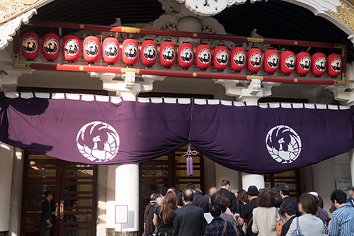 歌舞伎座、銀座の町並み 23の高画質画像