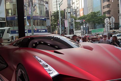 スポーツカー、銀座の町並み 27の高画質画像