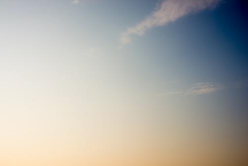 夕方の空模様 5の高画質画像