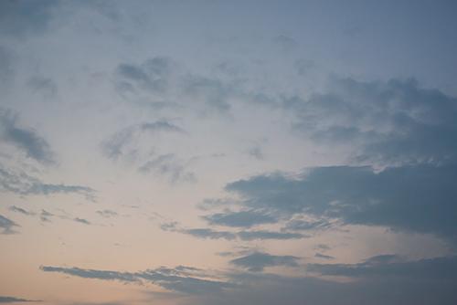 夕方の空模様 15の高画質画像