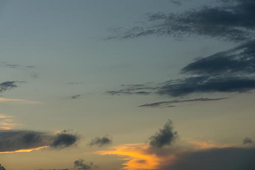 夕方の空模様 21の高画質画像