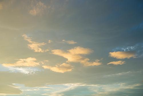 夕方の空模様 73の高画質画像