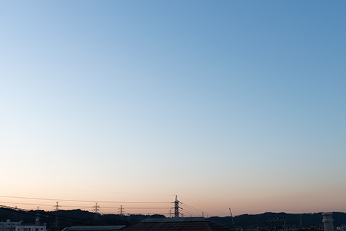 夕方の空模様 96の高画質画像